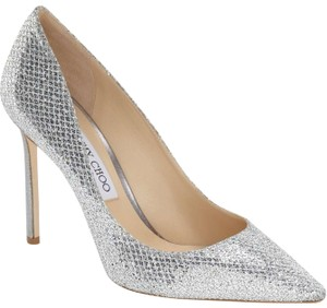 Jimmy Choo Romy Romy 100 Wedding Silver Pumps