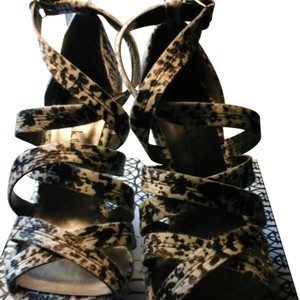 Nicole Miller black and white animal print Sandals