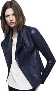 Vince Navy Leather Jacket