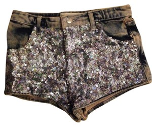 Topshop Cut Off Shorts Sequin, Distressed Demin