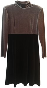 KC Spencer short dress Black Sleek Velvet Short Longsleeve on Tradesy