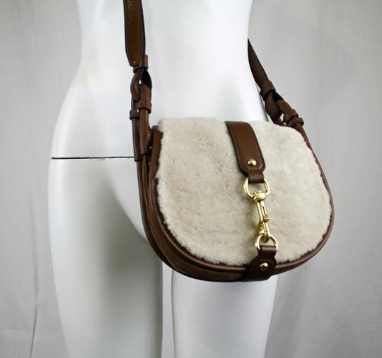Michael Kors New With Leather Jamie Shearling Suede Cross Body Bag Image 1