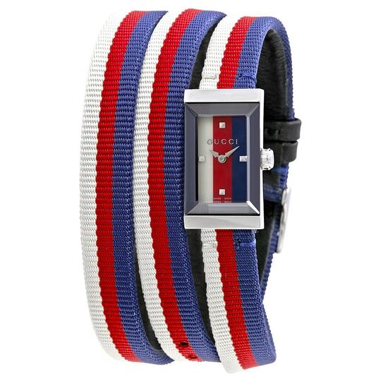 Preload https://img-static.tradesy.com/item/22708130/gucci-blue-white-red-g-frame-ladies-multicolored-wrap-around-fabric-strap-ladies-watch-0-0-540-540.jpg