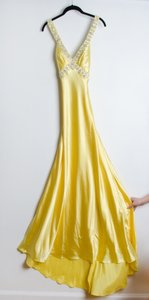 Mori Lee Yellow/Golden Dress