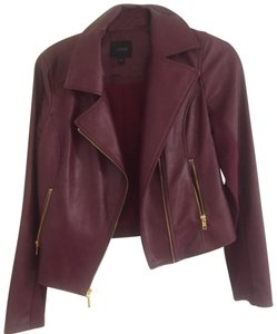Guess wine Leather Jacket