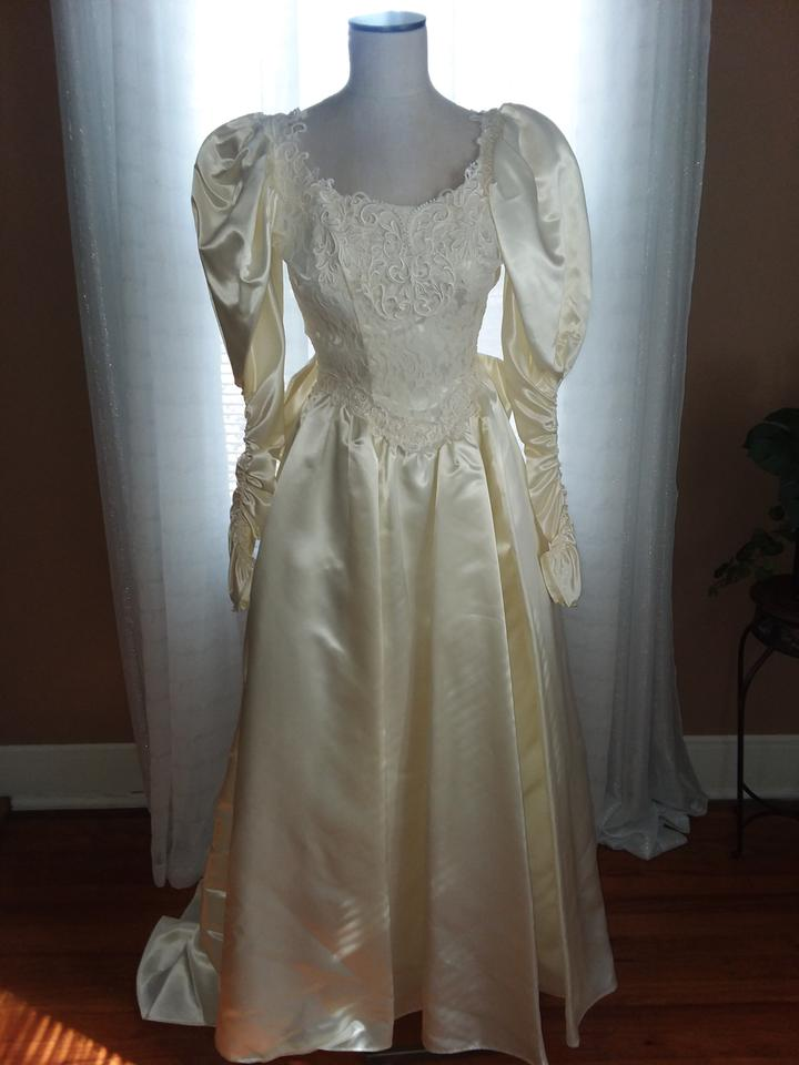 Jessica mcclintock cream satin rn49422 vintage wedding dress size 4 jessica mcclintock cream satin rn49422 vintage wedding dress size 4 s junglespirit Image collections