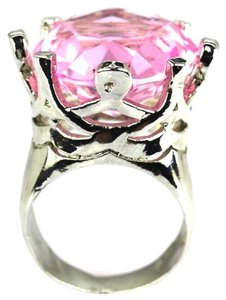 Other HUGE 20mm Kunzite Gemstone 925 Sterling Silver Ring 8.5