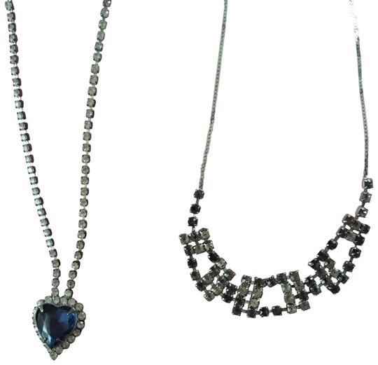 Preload https://img-static.tradesy.com/item/22708300/silver-and-blue-rhinestone-necklace-0-2-540-540.jpg