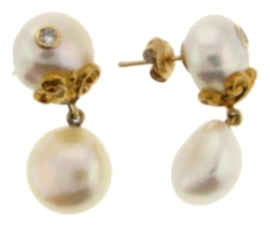 Other HIGH END-WHOLESALE 18k gold diamond pearl earrings