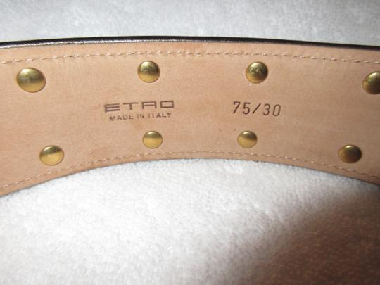 Etro New Made in Italy Leather Statement Mughal 75/30