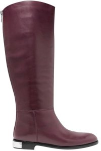 Marc by Marc Jacobs Leather Burgundy Tall Riding Plum Boots