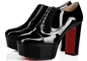 Christian Louboutin Lace Up Oxford black Platforms