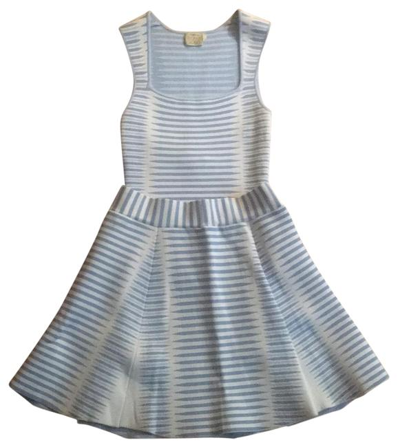 Item - Blue and White Sleeveless Top Skirt Set Short Casual Dress Size 4 (S)