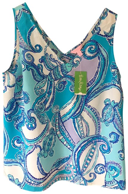 Preload https://img-static.tradesy.com/item/22708613/lilly-pulitzer-searulean-blue-test-the-water-cipriani-top-blouse-size-16-xl-plus-0x-0-1-650-650.jpg