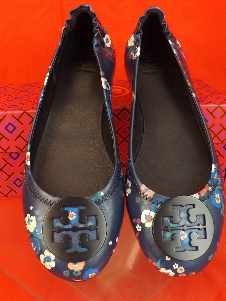 5c076ef885eb ... Leather Multi Travel Tory Bouquet Floral Navy Reva Ballet Flats Burch  Pansy color Minnie Blue HYnw6Wvqwt ...