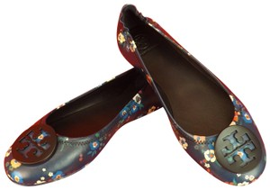 Tory Burch Navy Blue / Multi-Color Flats