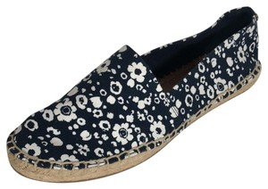 Tory Burch Espadrille Floral Navy White Flats