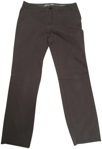Eddie Bauer Work Casual Straight Pants Gray khaki