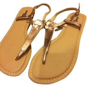 Charlotte Russe Gold Sandals