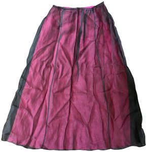 Laundry by Shelli Segal Maxi Skirt Hot Pink and Black