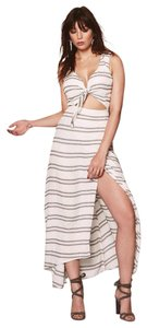 Striped - Seaside Maxi Dress by Reformation Boobs Maxi Cut-out