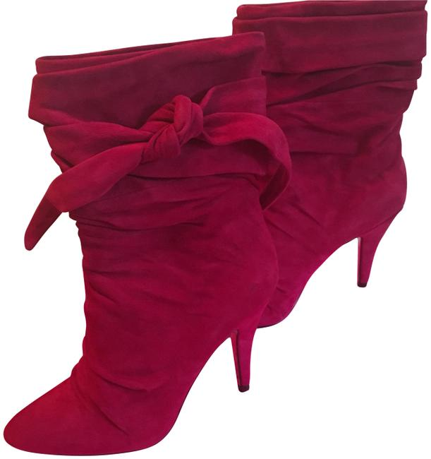 Betsey Johnson Raspberry Pink Ankle Boots/Booties Size US 6.5 Regular (M, B) Betsey Johnson Raspberry Pink Ankle Boots/Booties Size US 6.5 Regular (M, B) Image 1