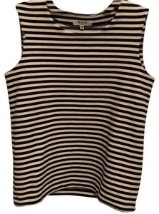 Madewell Top stripped black and white