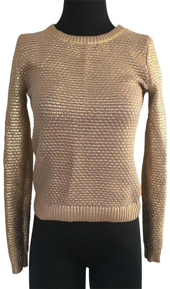 h m gold h m sweater pullover size 0 xs tradesy. Black Bedroom Furniture Sets. Home Design Ideas