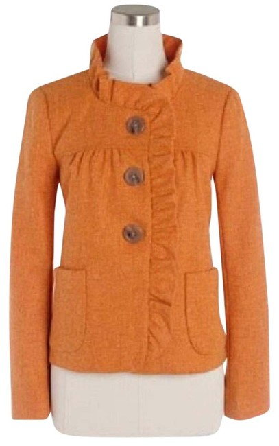 Item - Orange Herringbone Fiona Jacket Size 0 (XS)