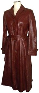 Wilsons Leather Vintage Fitted Princess Trench Coat