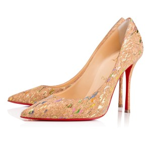 Christian Louboutin Decoltish Pigalle Stiletto Classic Cork nude Pumps