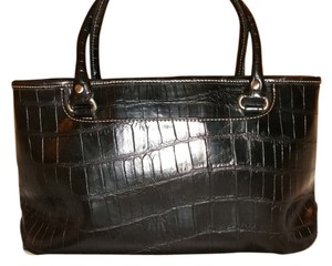 Relic Faux Croc. Vintage Tote in Black