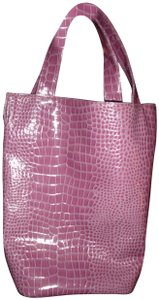 Bijoux Terner Pvc Alligator Reptile Extra Large Purple Travel Bag