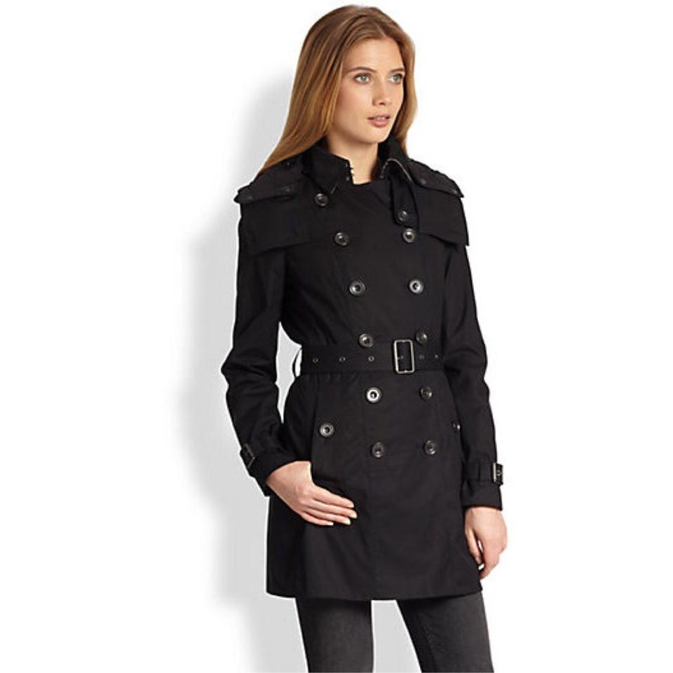 Burberry Black Reymoore With Quilted Warmer Trench Coat