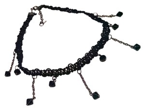 Other New Black Lace Slave Choker Necklace Beaded J804