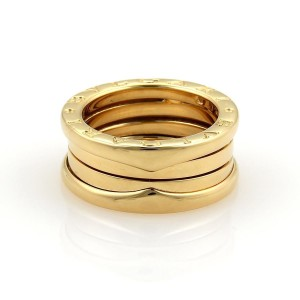 BVLGARI Bulgari B Zero-1 18k Yellow Gold 8mm Band Ring Size 48-US 4.25