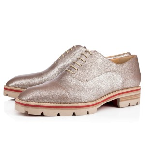 Christian Louboutin Hubertus Donna Oxford Loafer silver Flats