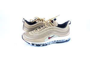 Nike * Air Max 97 Og Qs Metallic Gold Varsity Red Shoes