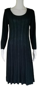 Kasper Knit Pull-on Sweater Dress