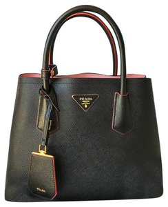 57bf0adc6c0b where to buy prada saffiano leather double tote in black f54d4 d9a1f