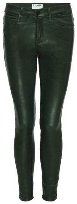 Item - Forest Green Le De Jeanne Leather Pine Womens Pants Size 0 (XS, 25)