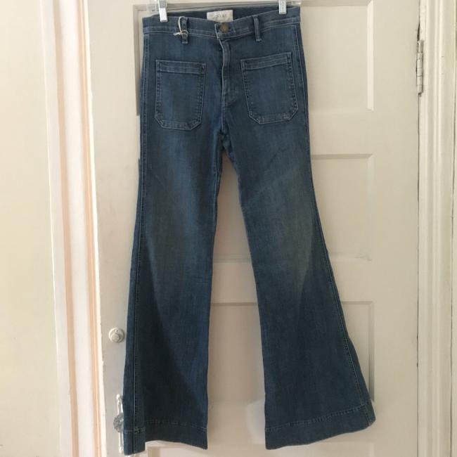 The Great. Trouser/Wide Leg Jeans-Medium Wash Image 2