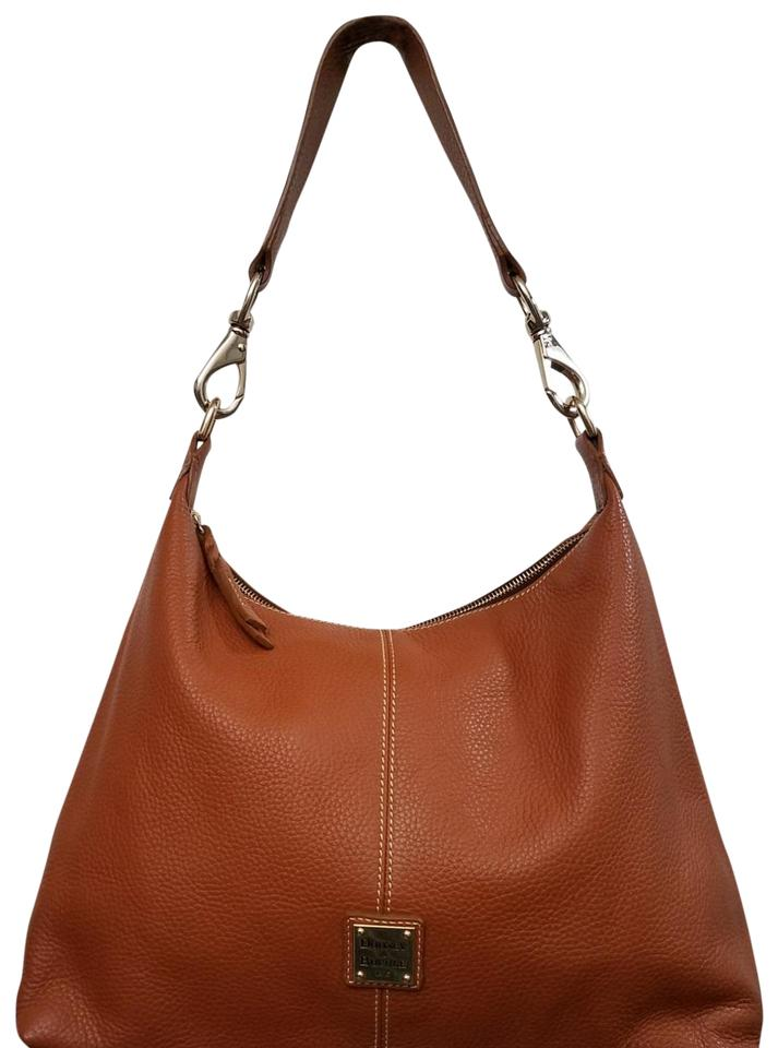 4c510d25d Dooney & Bourke Juliette Pebble Grain Camel Leather Hobo Bag - Tradesy