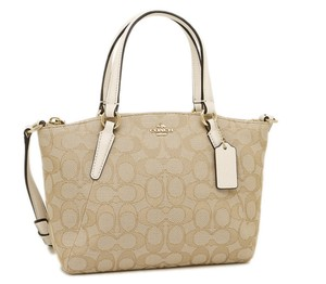 Coach Kelsey Crossbody Exploded Rep Legacy Jaquard Satchel in white