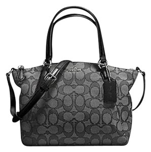 Coach Kelsey Crossbody Exploded Rep Legacy Jaquard Satchel in black
