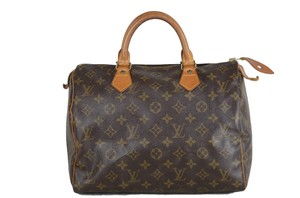 Louis Vuitton Speedy Purse Monogram Tote in Brown