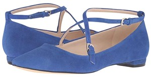 Nine West Suede Leather Pointed Blue Flats