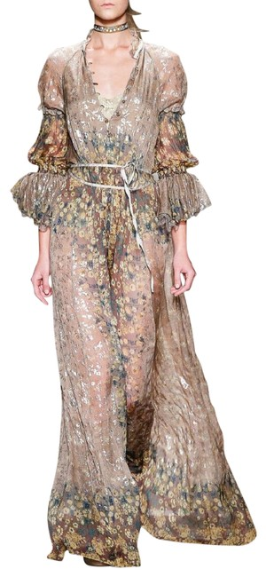 Preload https://img-static.tradesy.com/item/22711952/etro-taupe-khaki-spring-2016-runway-taupe-and-gold-layered-metallic-gown-long-formal-dress-size-4-s-0-1-650-650.jpg