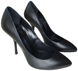 Giuseppe Zanotti Leather Heels Gucci Chanel Hermes Black/Blue Pumps