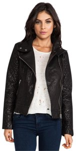 Mackage Leather Quilted Moto Rocker-chic Motorcycle Jacket